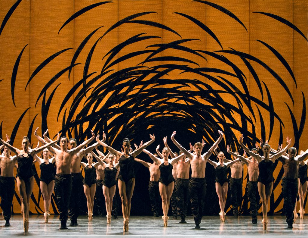 Pacific Northwest Ballet in Crystal Pite's Emergence-Photo by Angela Sterling