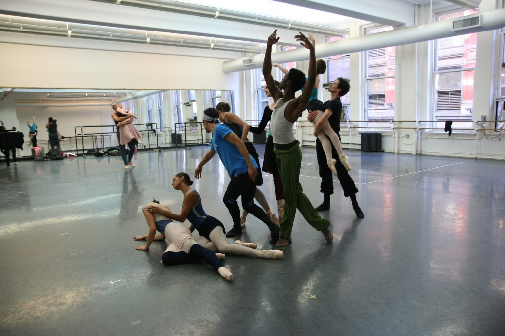 American Ballet Theatre dancers in rehearsal for Her Notes. Photo: Susie Morgan Taylor.